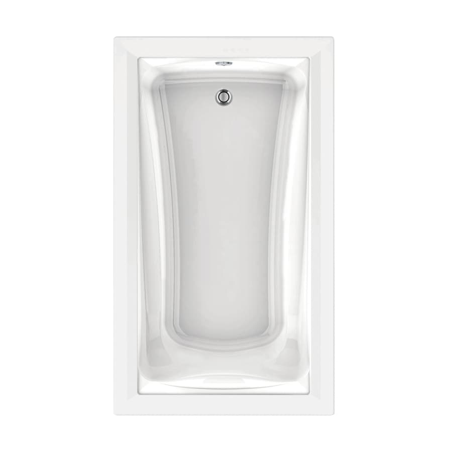 American Standard Green Tea 72-in White Acrylic Drop-In Air Bath with Reversible Drain
