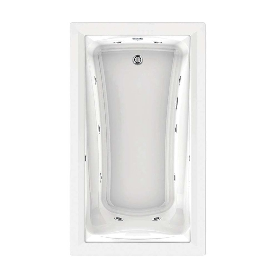 American Standard Green Tea 72-in L x 42-in W x 21-in H White Acrylic Rectangular Drop-in Whirlpool Tub and Air Bath