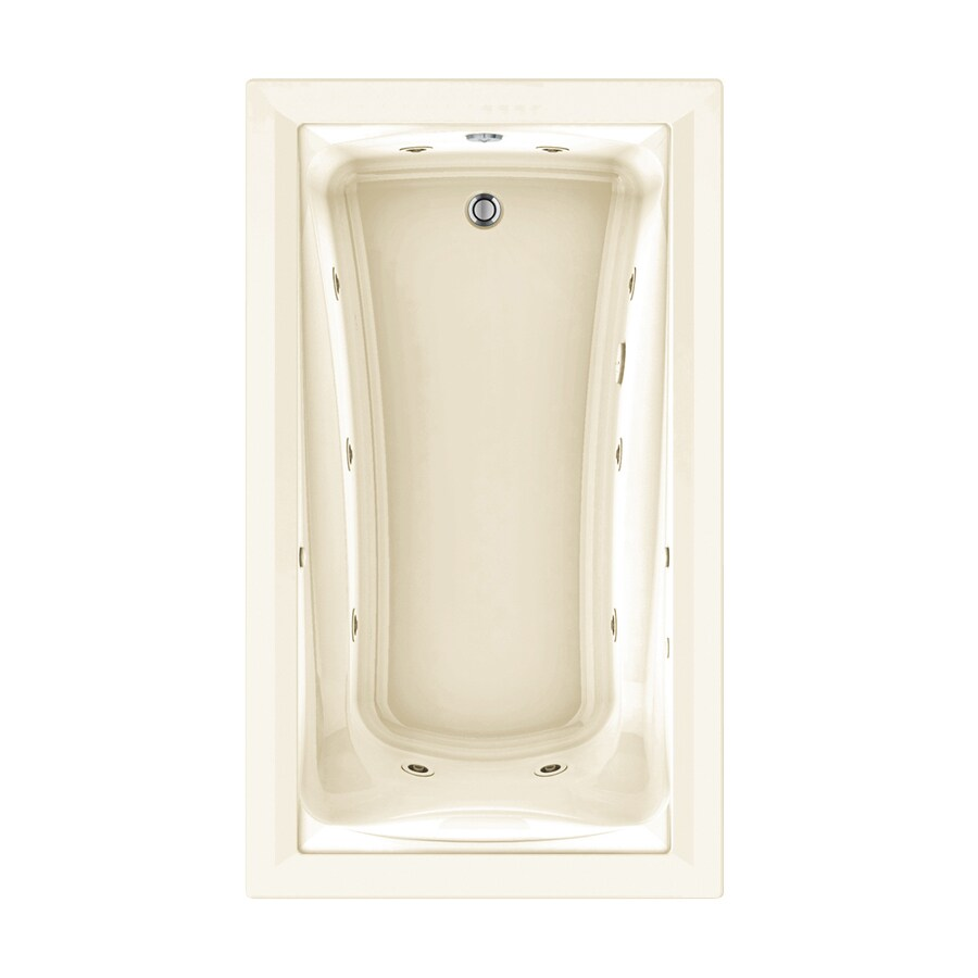American Standard Green Tea 72-in Linen Acrylic Drop-In Whirlpool Tub and Air Bath with Reversible Drain