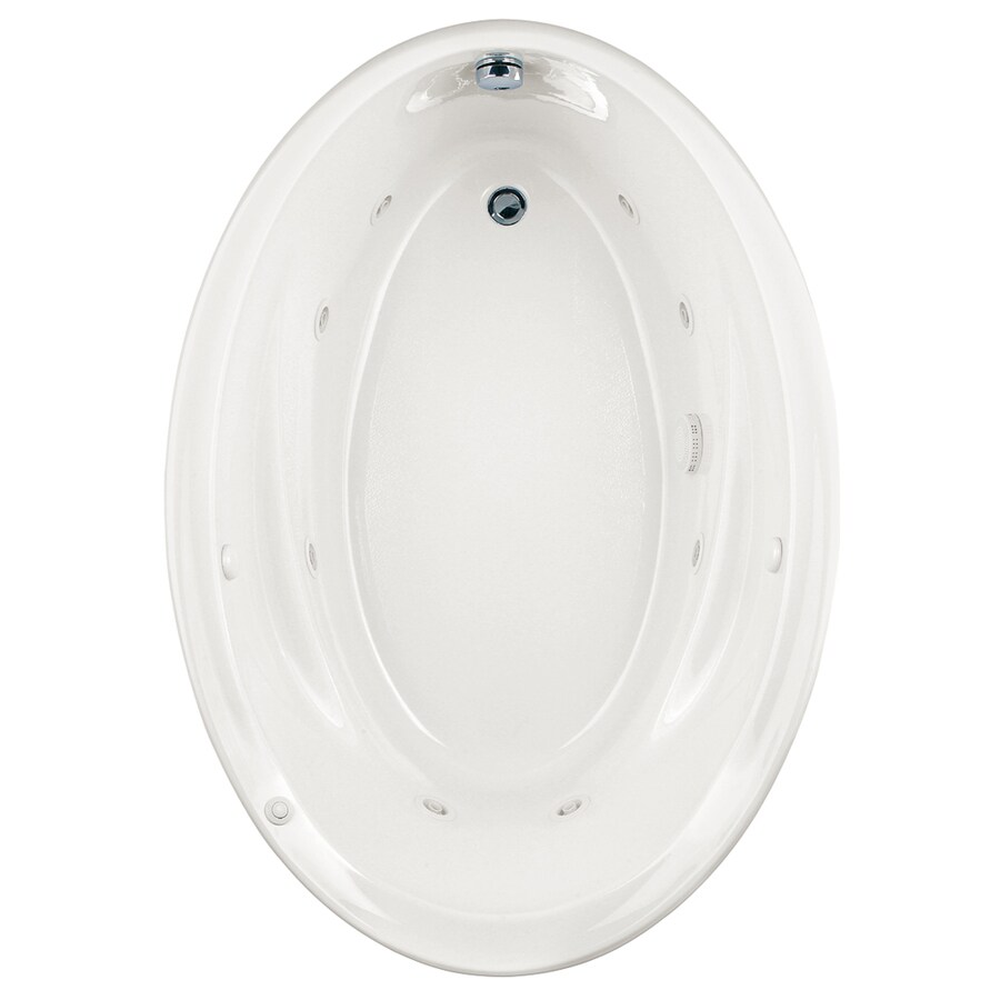 American Standard Savona White Acrylic Oval Whirlpool Tub (Common: 42-in x 60-in; Actual: 21.25-in x 42.25-in x 60-in)