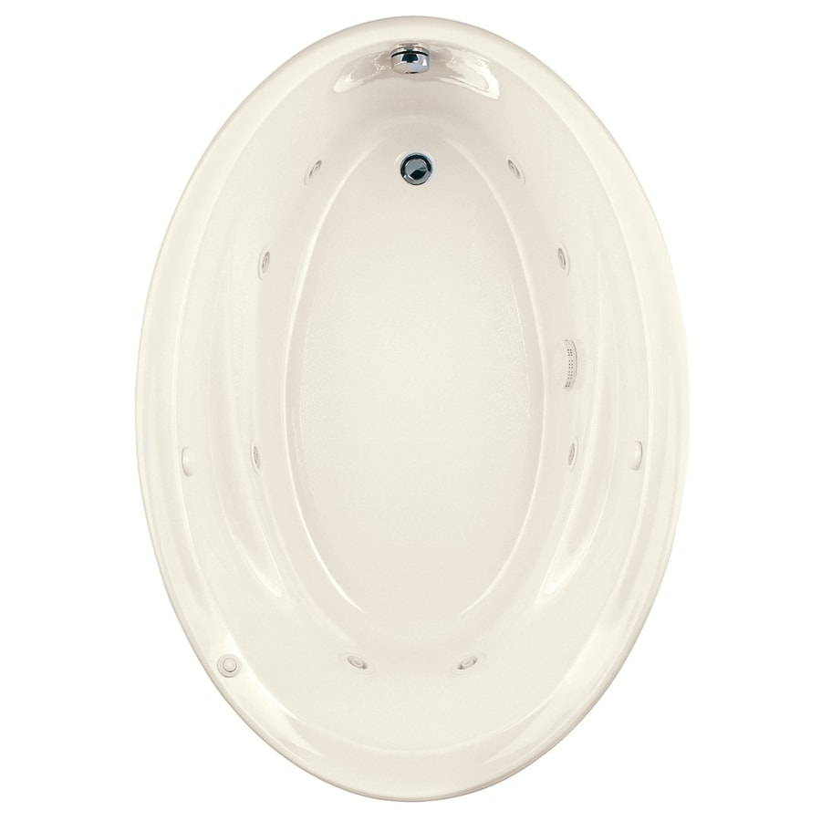 American Standard Savona Linen Acrylic Oval Whirlpool Tub (Common: 42-in x 60-in; Actual: 21.25-in x 42.25-in x 60-in)