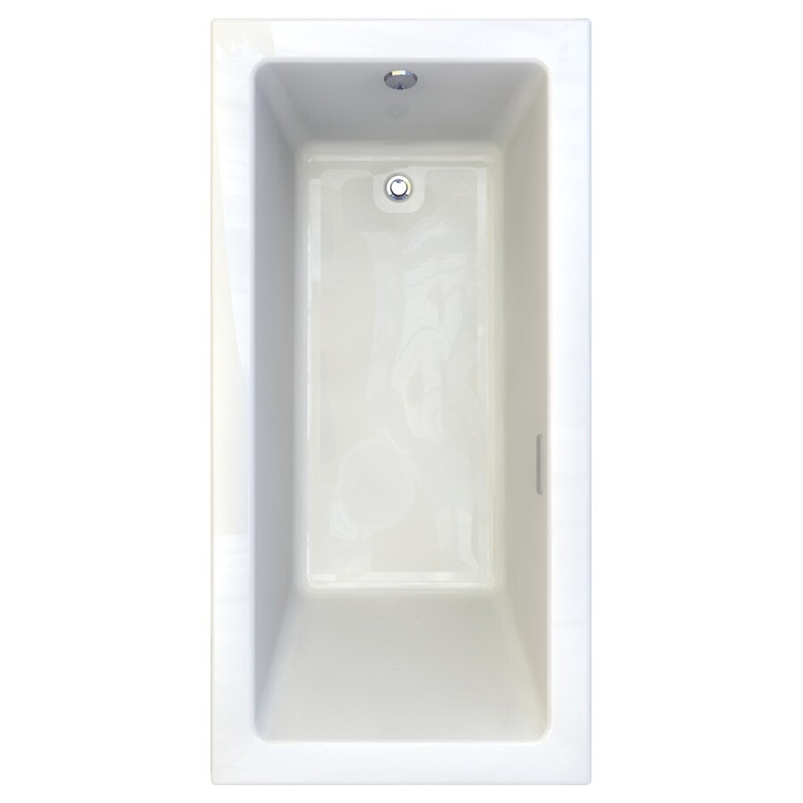 American Standard Studio 71.75-in L x 35.75-in W x 22.5-in H White Acrylic 1-Person-Person Rectangular Drop-in Air Bath