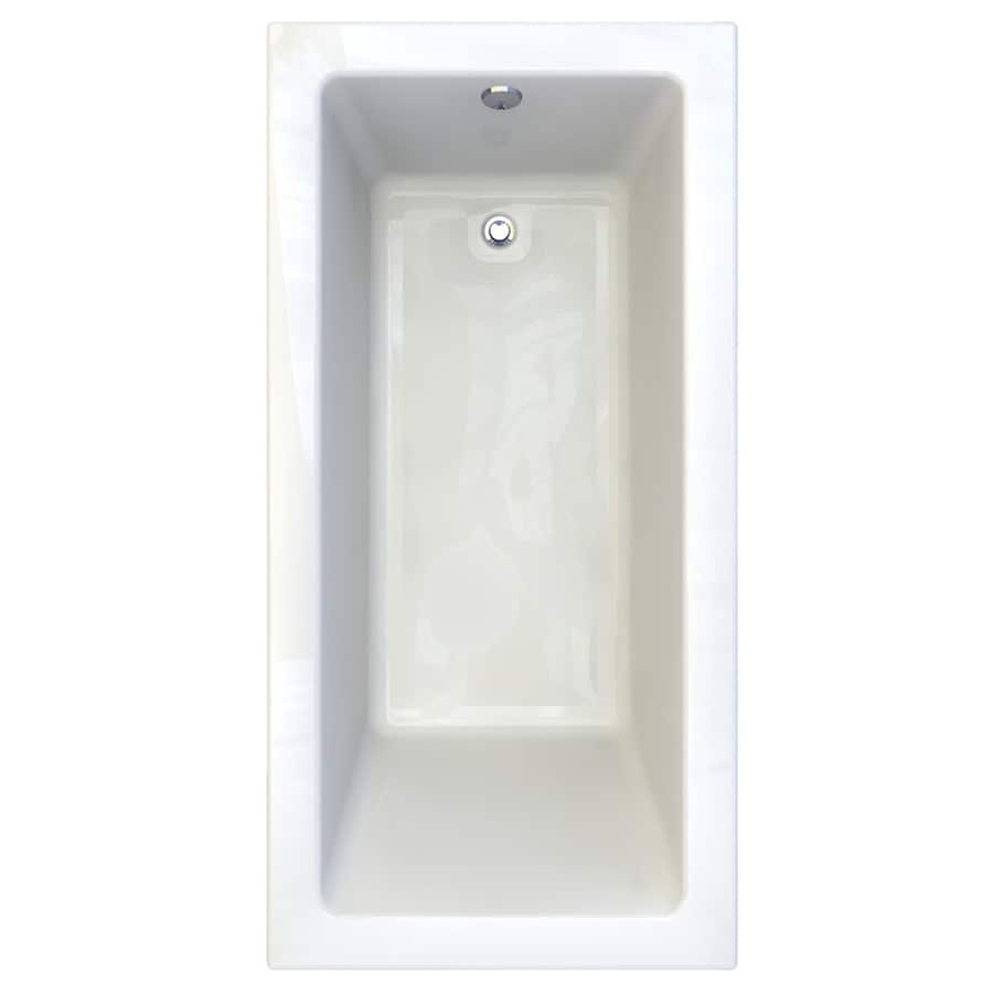 American Standard Studio Acrylic Rectangular Drop-in Bathtub with Reversible Drain (Common: 36-in x 72-in; Actual: 22.5-in x 36-in x 72-in)
