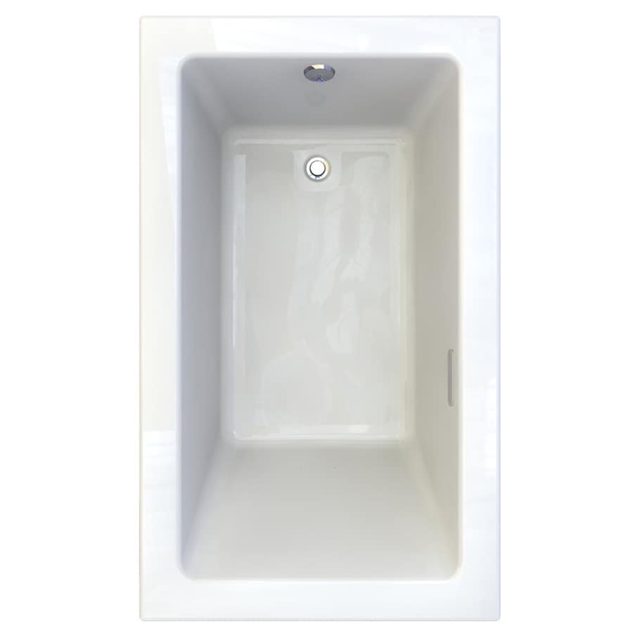 American Standard Studio 59.5-in L x 35.5-in W x 22.5-in H White Acrylic 1-Person-Person Rectangular Drop-in Air Bath