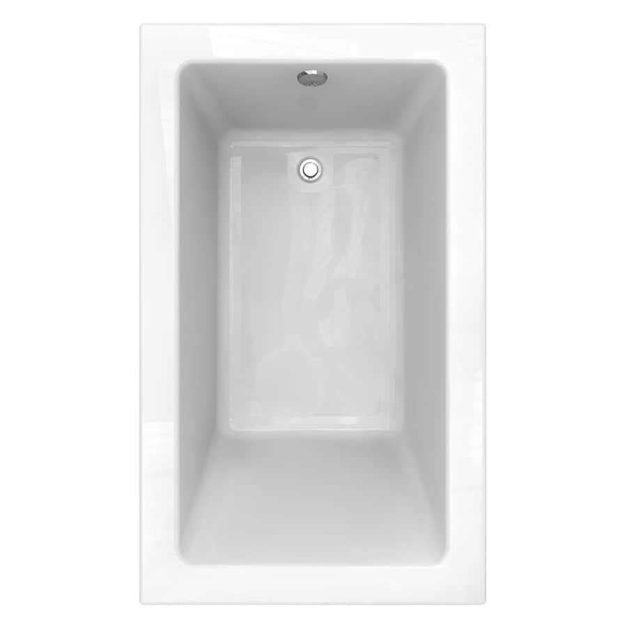 American Standard Studio 60-in White Acrylic Drop-In Bathtub with Reversible Drain