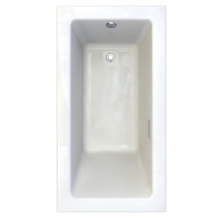American Standard Studio 59.75-in L x 31.75-in W x 22.5-in H White Acrylic 1-Person-Person Rectangular Drop-in Air Bath