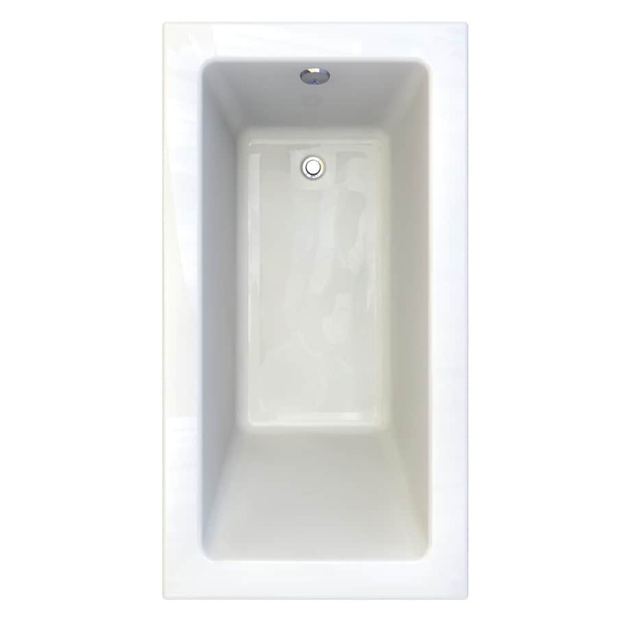 American Standard Studio White Acrylic Rectangular Drop-in Bathtub with Reversible Drain (Common: 32-in x 60-in; Actual: 22.5-in x 32-in x 60-in)