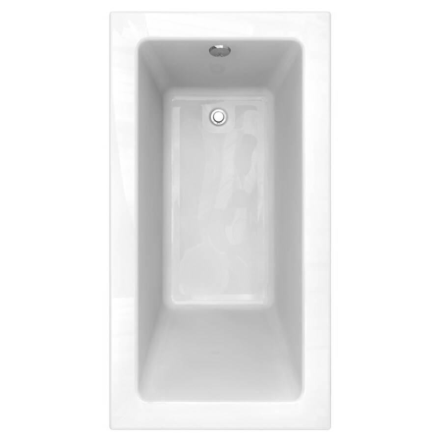 American Standard Studio Acrylic Rectangular Drop-in Bathtub with Reversible Drain (Common: 32-in x 60-in; Actual: 22.5-in x 32-in x 60-in)