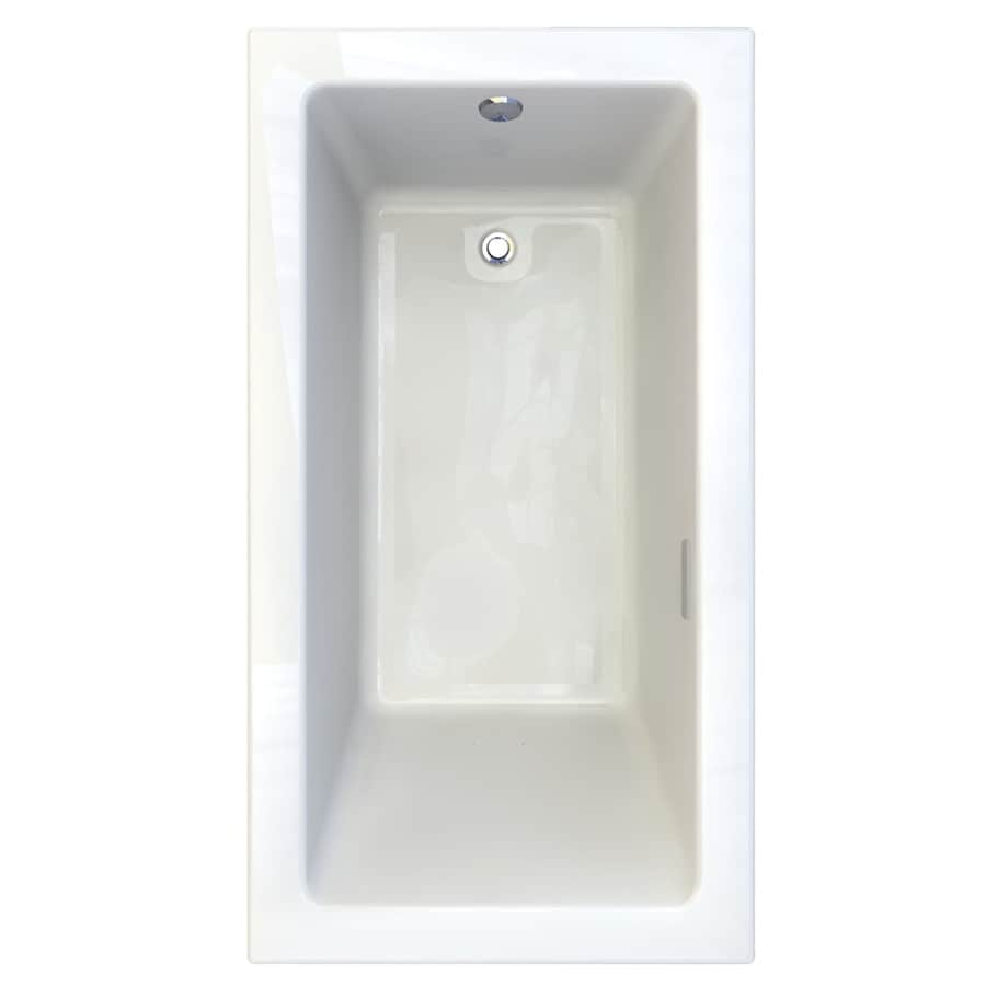 American Standard Studio 65.75-in L x 35.75-in W x 22.5-in H White Acrylic Rectangular Drop-in Air Bath