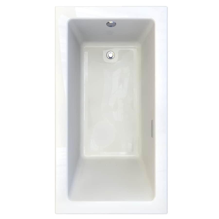 American Standard Studio 65.75-in White Acrylic Drop-In Air Bath with Reversible Drain
