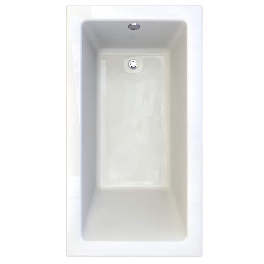 American Standard Studio White Acrylic Rectangular Drop-in Bathtub with Reversible Drain (Common: 36-in x 66-in; Actual: 22.5-in x 36-in x 66-in