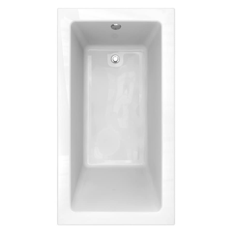 American Standard Studio Acrylic Rectangular Drop-in Bathtub with Reversible Drain (Common: 36-in x 66-in; Actual: 22.5-in x 36-in x 66-in)