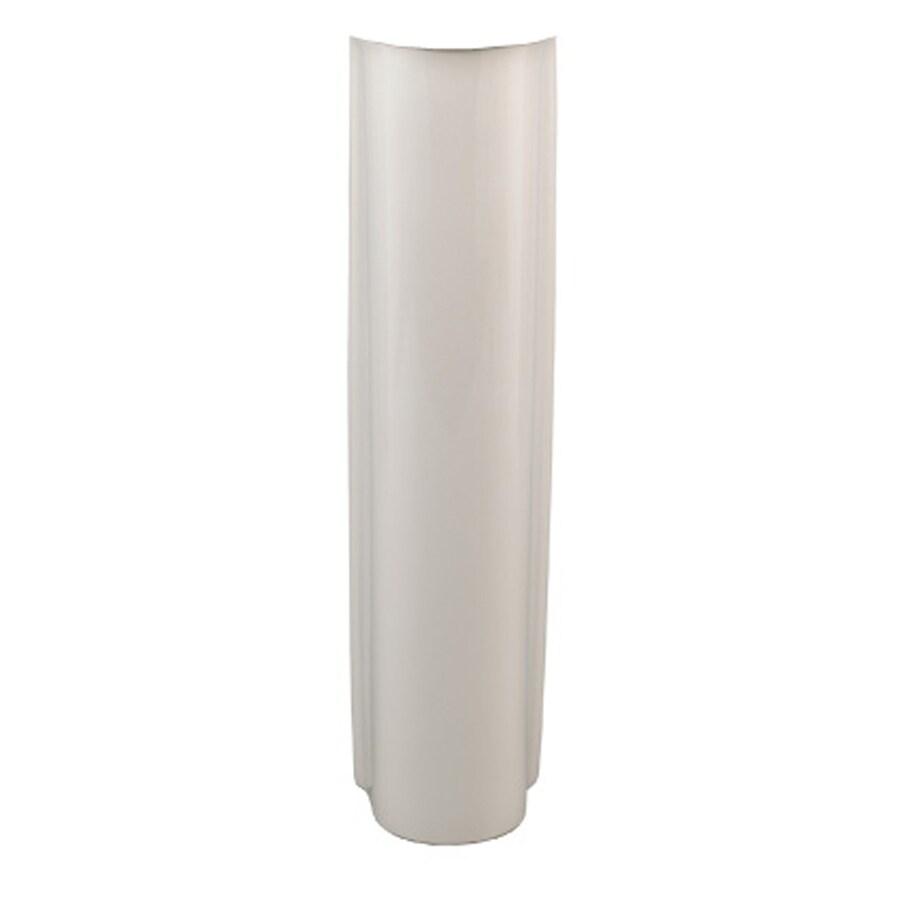 American Standard 27-in H Clean Bone Vitreous China Pedestal Sink Base