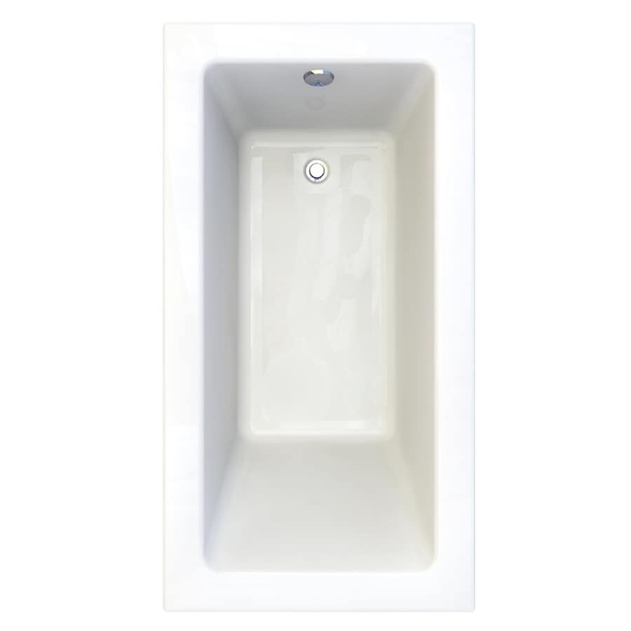 American Standard Studio 60-in Arctic Acrylic Drop-In Bathtub with Reversible Drain