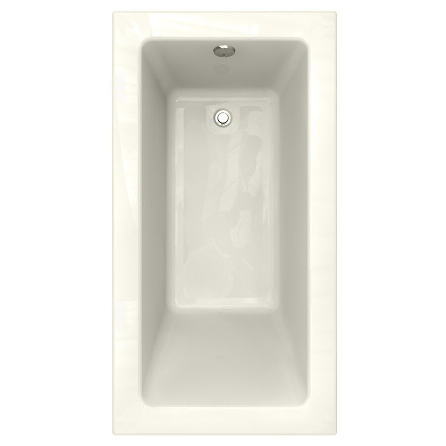 studio 60 in linen acrylic bathtub with reversible drain at