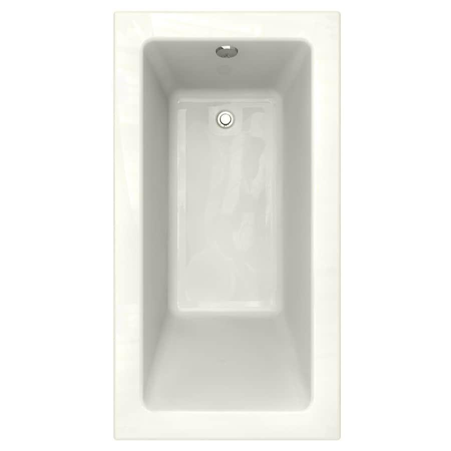 American Standard Studio Linen Acrylic Rectangular Drop-in Bathtub with Reversible Drain (Common: 32-in x 60-in; Actual: 22.5-in x 32-in x 60-in)