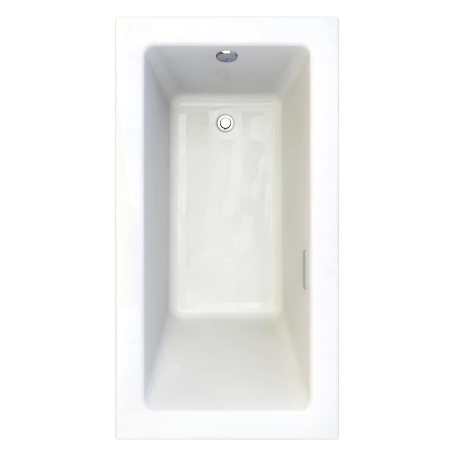 American Standard Studio 59.5-in Arctic Acrylic Drop-In Air Bath with Reversible Drain
