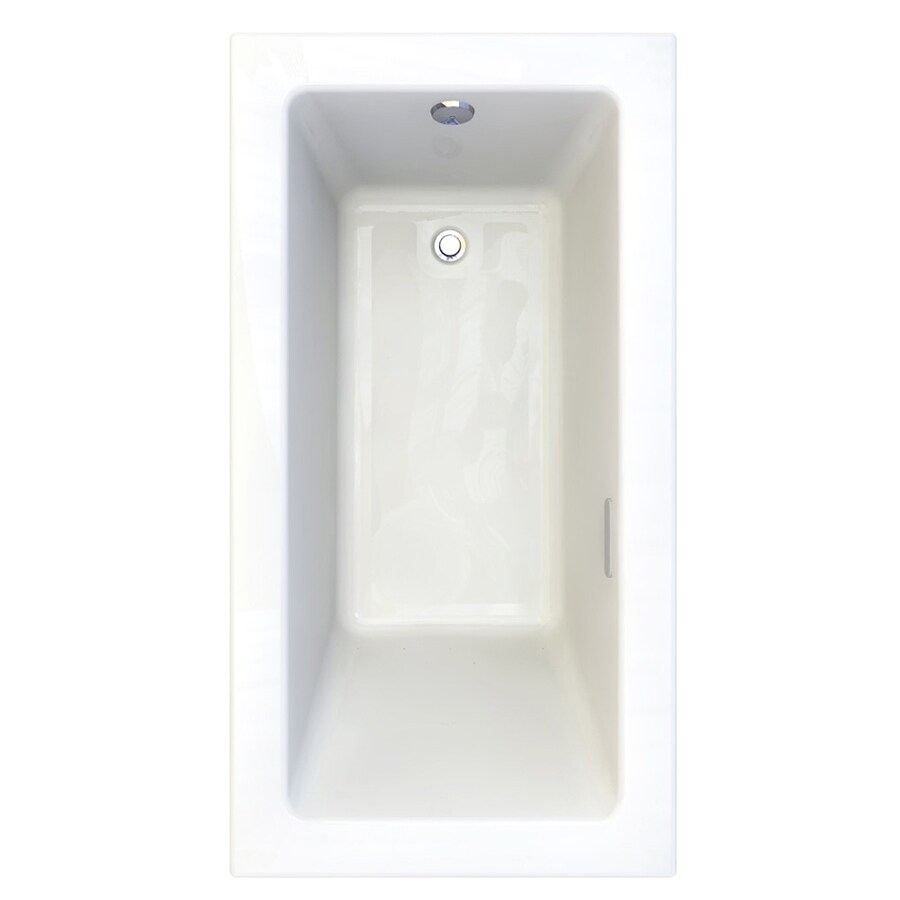 American Standard Studio 59.75-in L x 31.75-in W x 22.5-in H Arctic Acrylic 1-Person-Person Rectangular Drop-in Air Bath