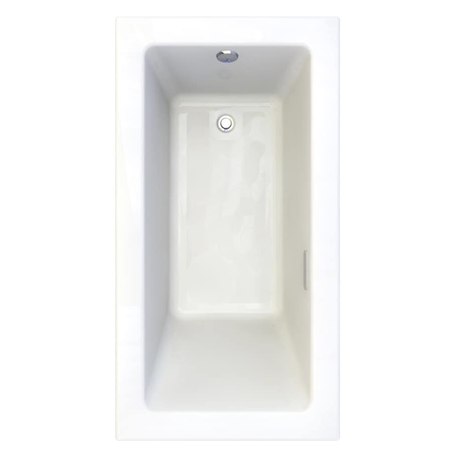 American Standard Studio 59.75-in Arctic Acrylic Drop-In Air Bath with Reversible Drain