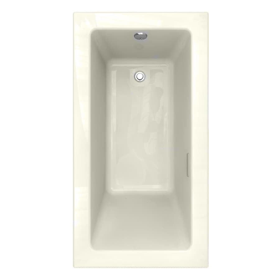 American Standard Studio 59.5-in L x 31.5-in W x 22.5-in H Linen Acrylic 1-Person-Person Rectangular Drop-in Air Bath