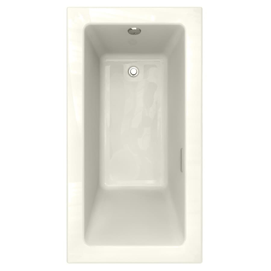 American Standard Studio 59.75-in L x 31.75-in W x 22.5-in H Linen Acrylic 1-Person-Person Rectangular Drop-in Air Bath