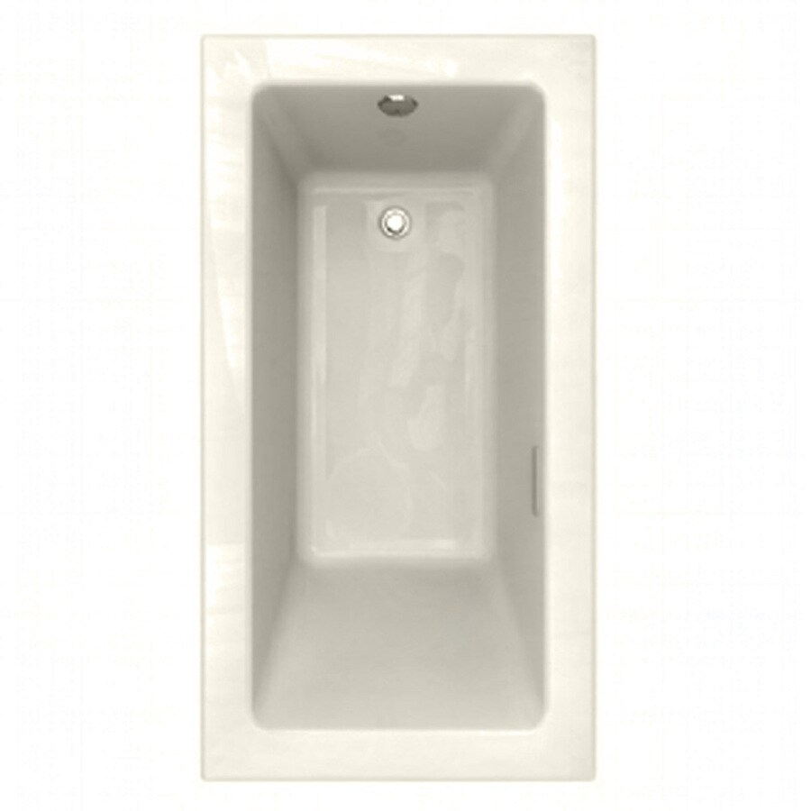 American Standard Studio 60-in L x 31.875-in W x 22.5-in H Linen Rectangular Air Bath