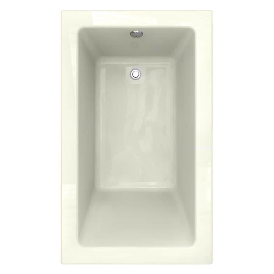 American Standard Studio 60-in Linen Acrylic Drop-In Bathtub with Reversible Drain