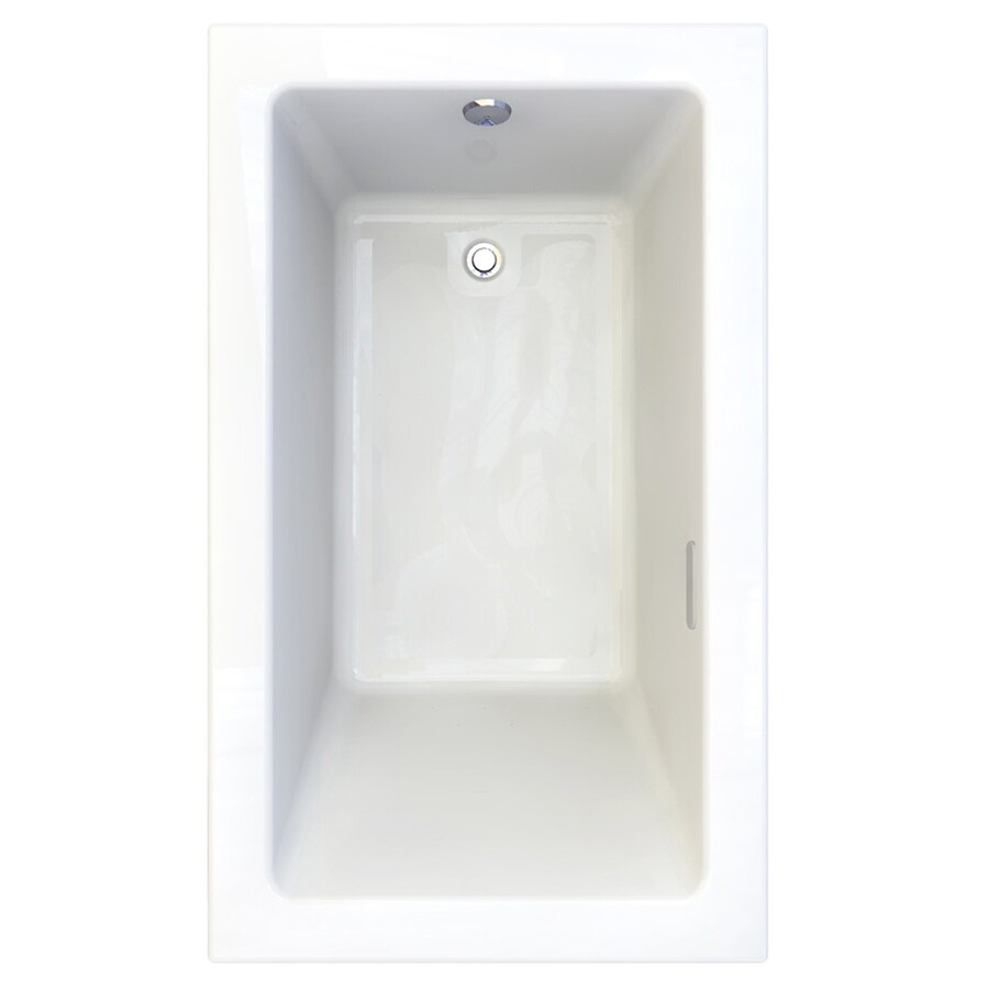 American Standard Studio 59.5-in Arctic Acrylic Drop-In Air Bath with Reversible Drain