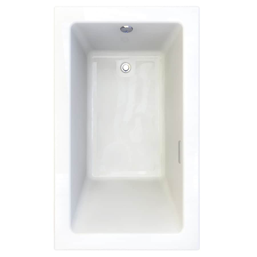 American Standard Studio 59.75-in L x 35.75-in W x 22.5-in H Arctic Acrylic 1-Person-Person Rectangular Drop-in Air Bath
