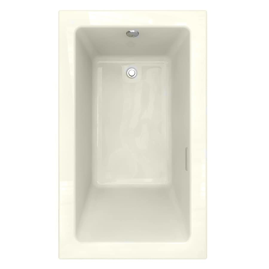 American Standard Studio 59.5-in L x 35.5-in W x 22.5-in H Linen Acrylic 1-Person-Person Rectangular Drop-in Air Bath
