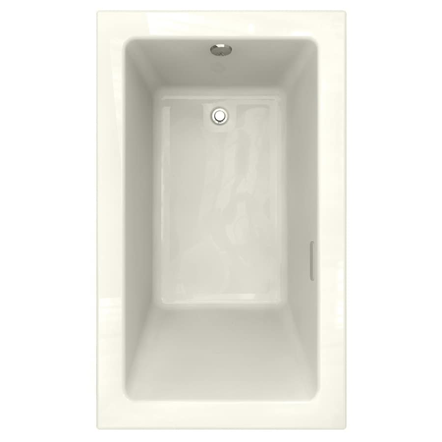 American Standard Studio 59.5-in Linen Acrylic Drop-In Air Bath with Reversible Drain