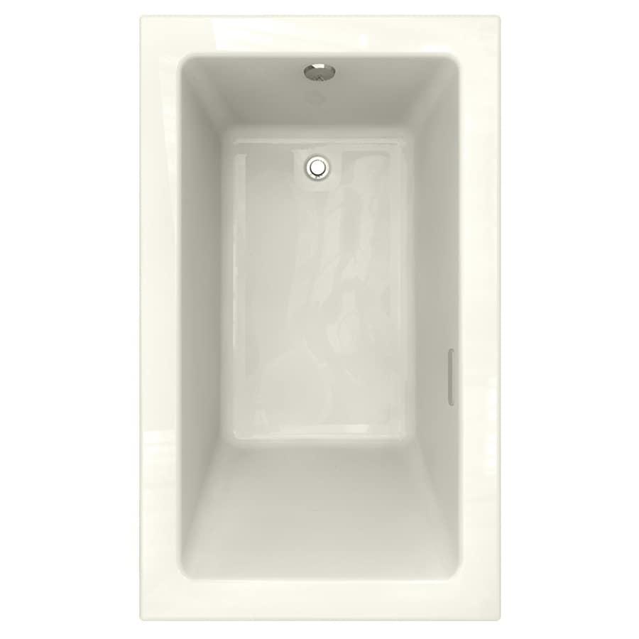 American Standard Studio 59.75-in Linen Acrylic Drop-In Air Bath with Reversible Drain