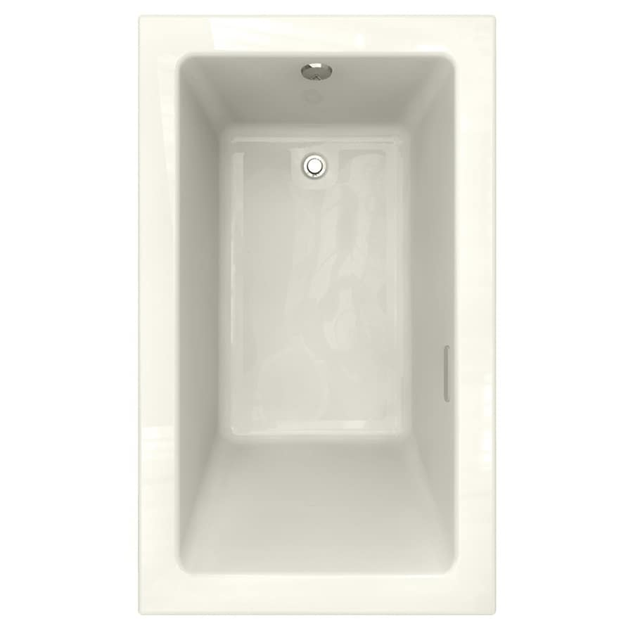 American Standard Studio 59.75-in L x 35.75-in W x 22.5-in H Linen Acrylic Rectangular Drop-in Air Bath