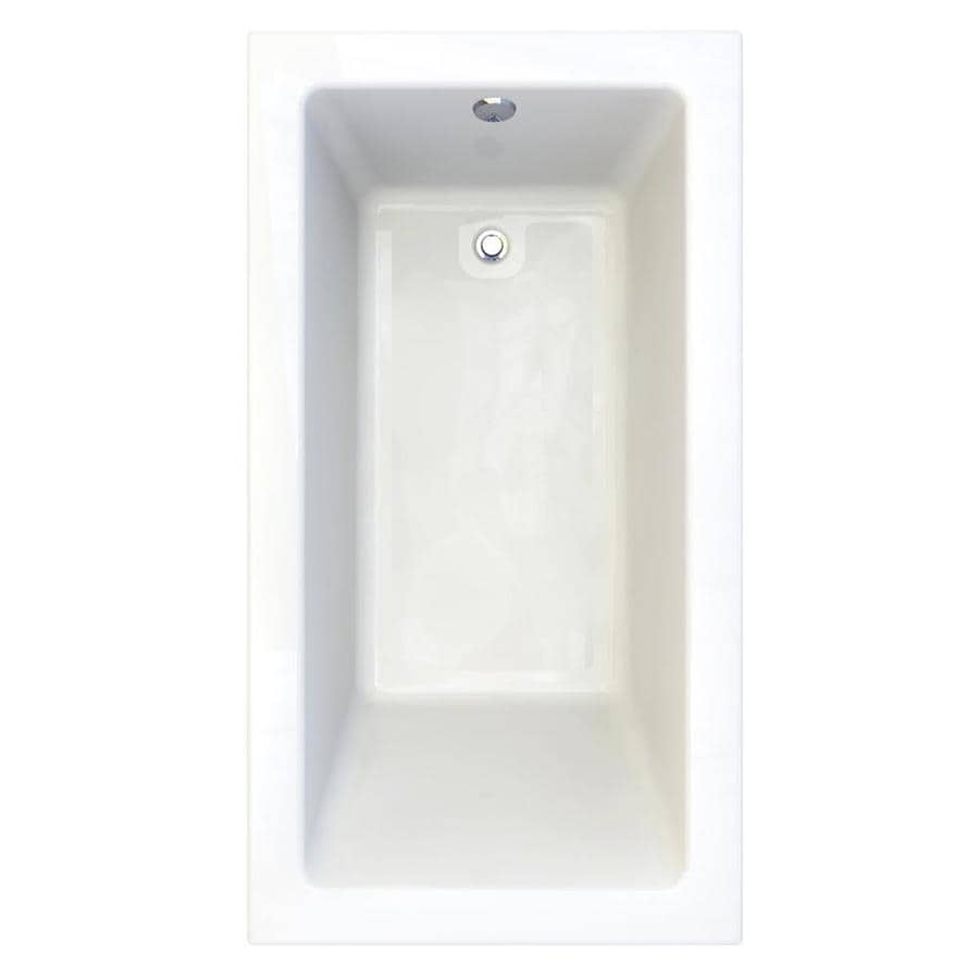 American Standard Studio Arctic Acrylic Rectangular Drop-In Bathtub with Reversible Drain (Common: 36-in x 66-in; Actual: 22.5-in x 36-in x 66-in)