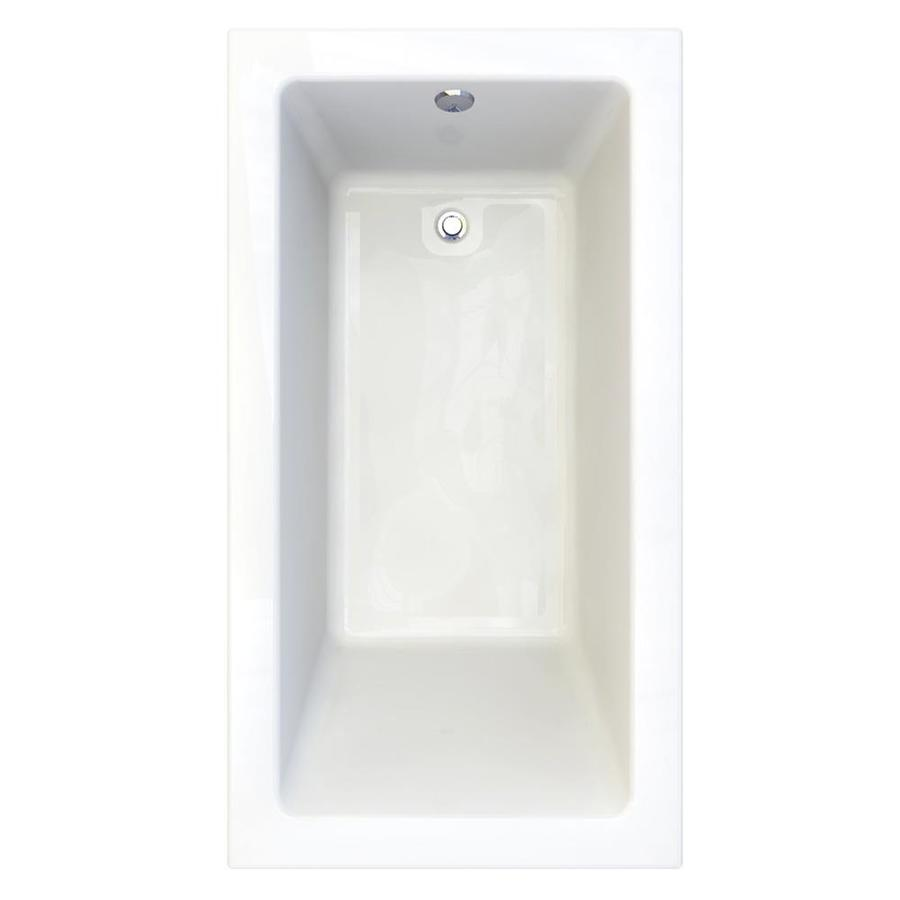 American Standard Studio 66-in Arctic Acrylic Drop-In Bathtub with Reversible Drain