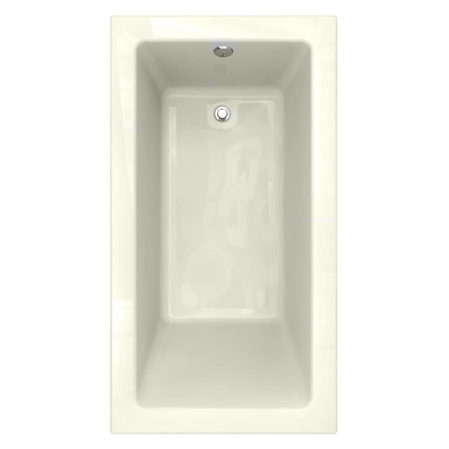 American Standard Studio 66-in Linen Acrylic Drop-In Bathtub with Reversible Drain