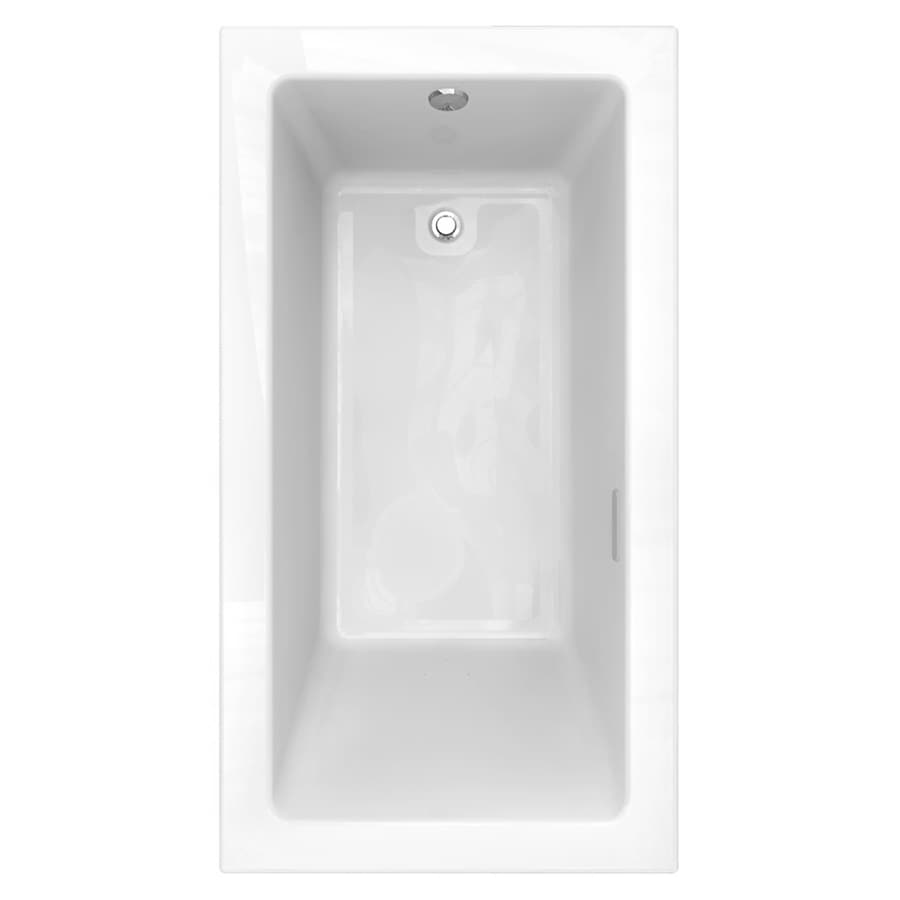 American Standard Studio 65.5-in Arctic Acrylic Drop-In Air Bath with Reversible Drain