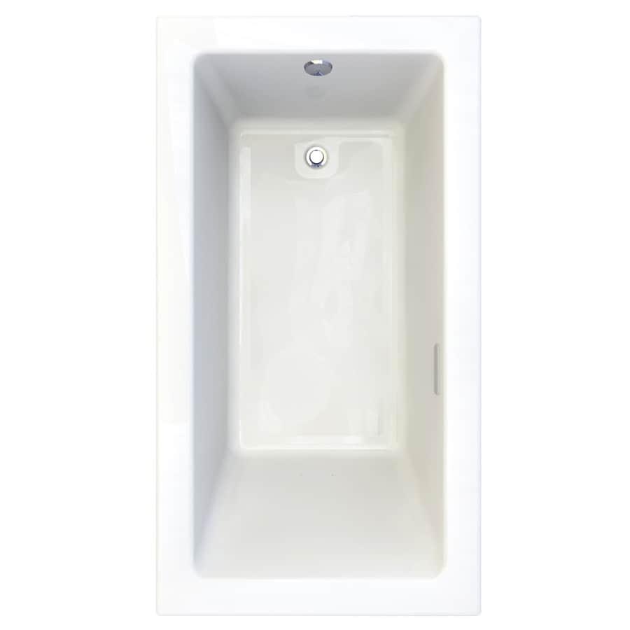 American Standard Studio 65.5-in Arctic Acrylic Drop-In Air Bath with Reversible Drain