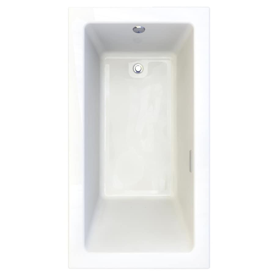 American Standard Studio 65.75-in L x 35.75-in W x 22.5-in H Arctic Acrylic 1-Person-Person Rectangular Drop-in Air Bath