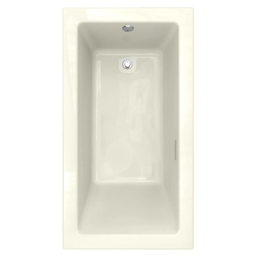 American Standard Studio 65.5-in L x 35.5-in W x 22.5-in H Linen Acrylic 1-Person-Person Rectangular Drop-in Air Bath