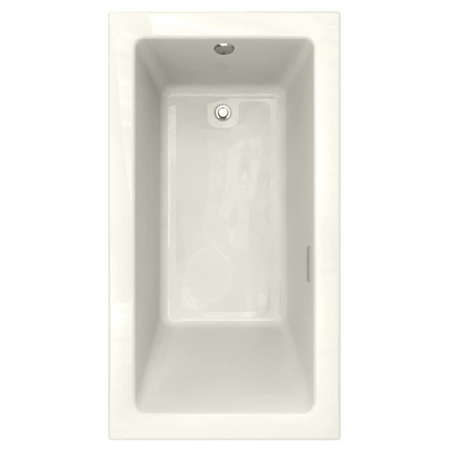 American Standard Studio 65.5-in L x 35.5-in W x 22.5-in H Linen Acrylic 1-Person-Person Rectangular Drop-in Air Bath