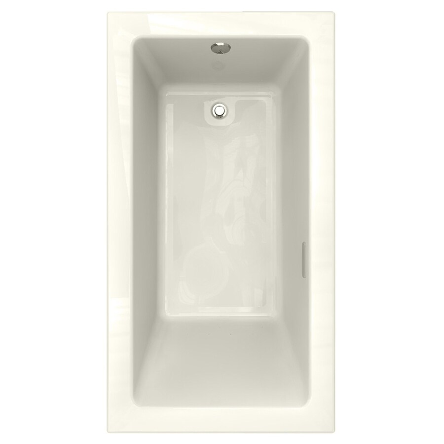 American Standard Studio 65.75-in L x 35.75-in W x 22.5-in H Linen Acrylic Rectangular Drop-in Air Bath