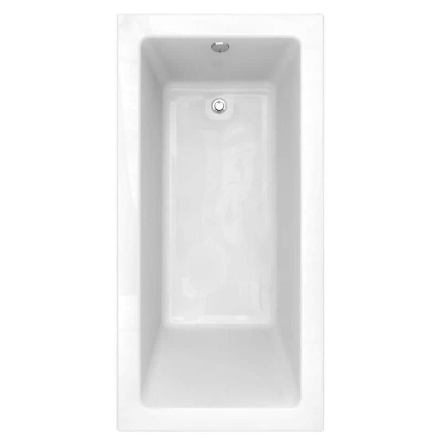 American Standard Studio 72-in Arctic Acrylic Drop-In Bathtub with Reversible Drain