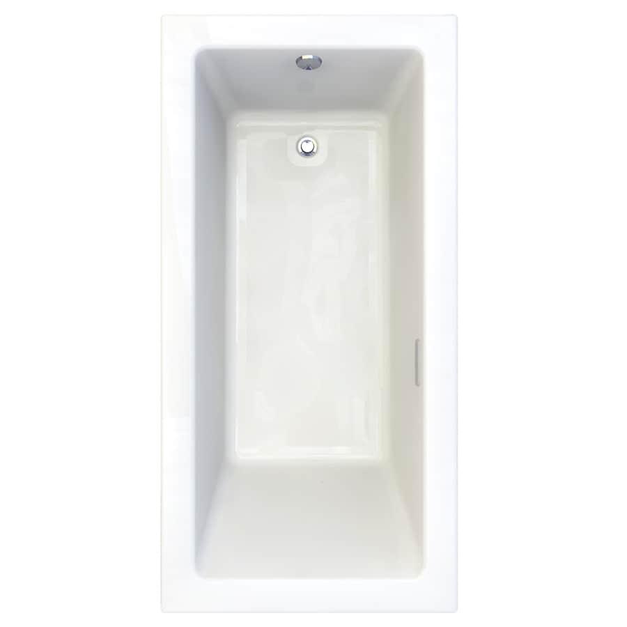 American Standard Studio 71.75-in Arctic Acrylic Drop-In Air Bath with Reversible Drain