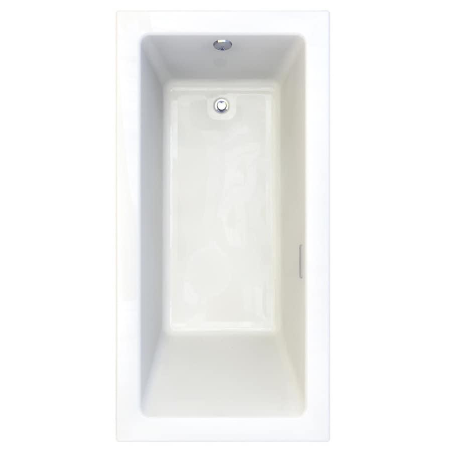 American Standard Studio 71.75-in L x 35.75-in W x 22.5-in H Arctic Acrylic 1-Person-Person Rectangular Drop-in Air Bath