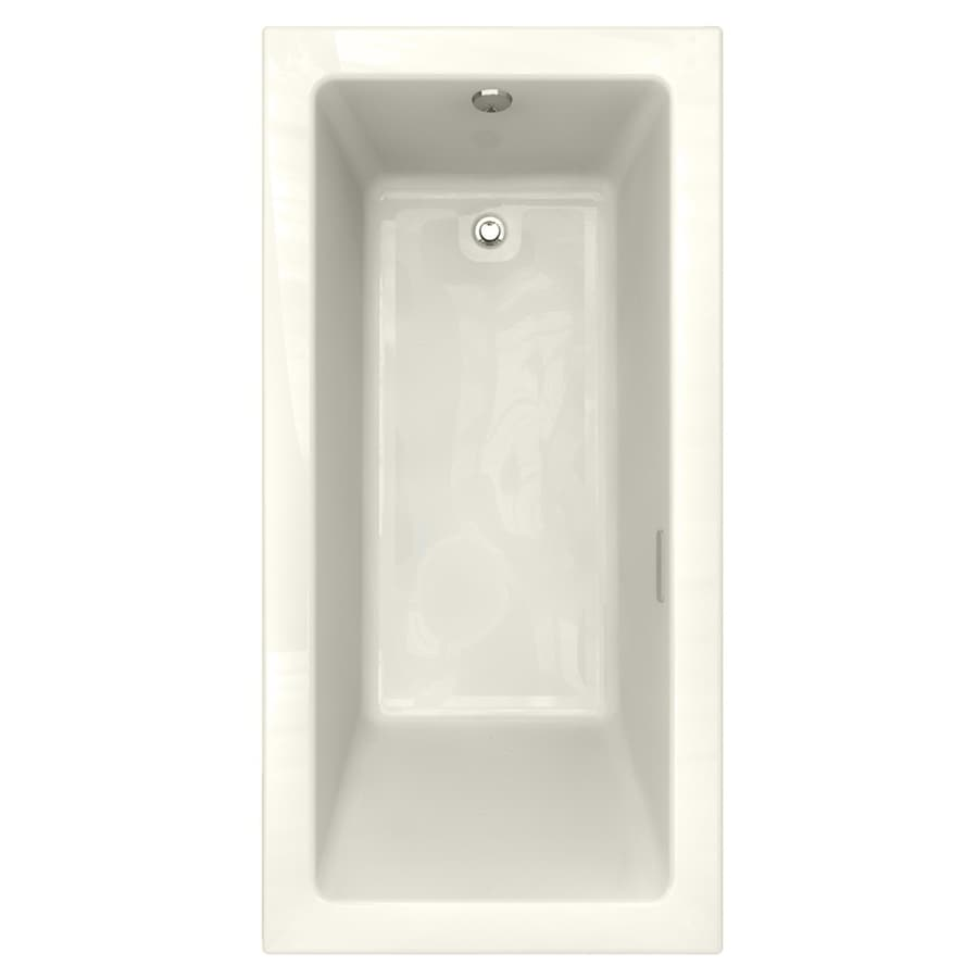 American Standard Studio 71.5-in Linen Acrylic Drop-In Air Bath with Reversible Drain