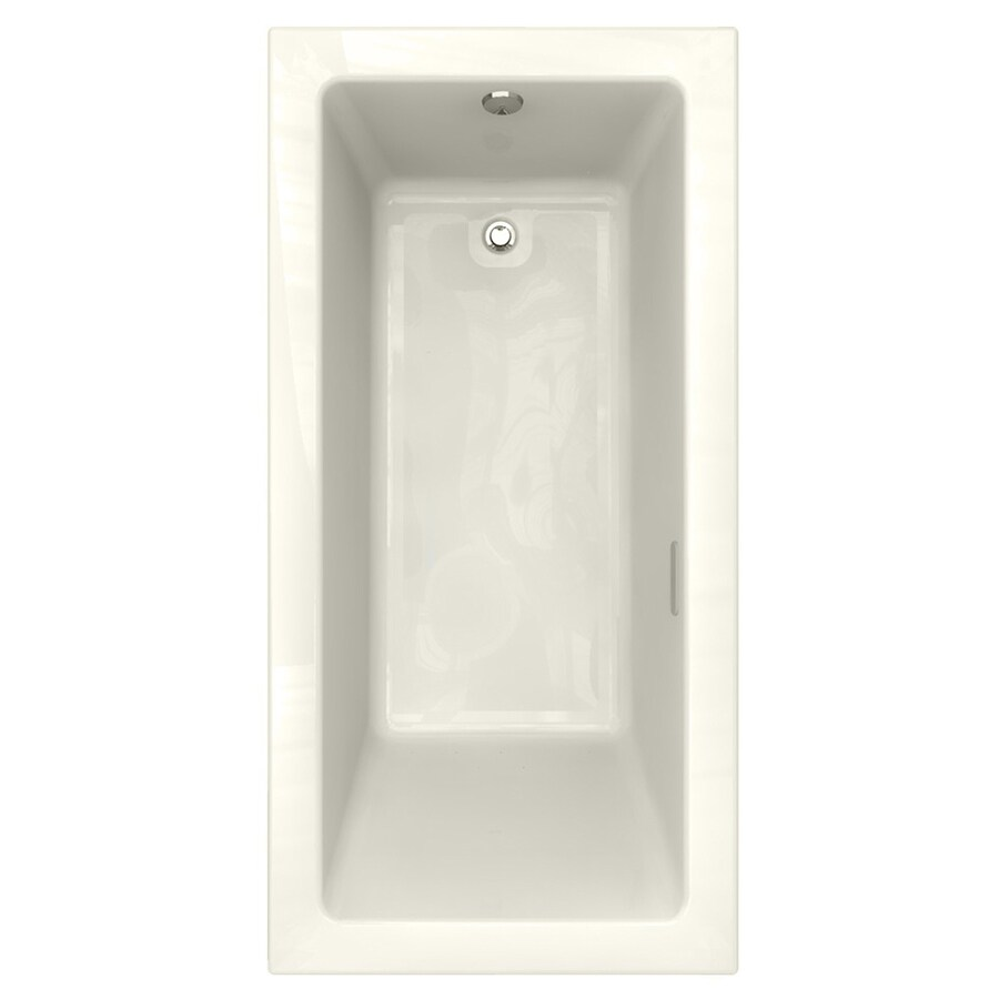 American Standard Studio 71.75-in Linen Acrylic Drop-In Air Bath with Reversible Drain