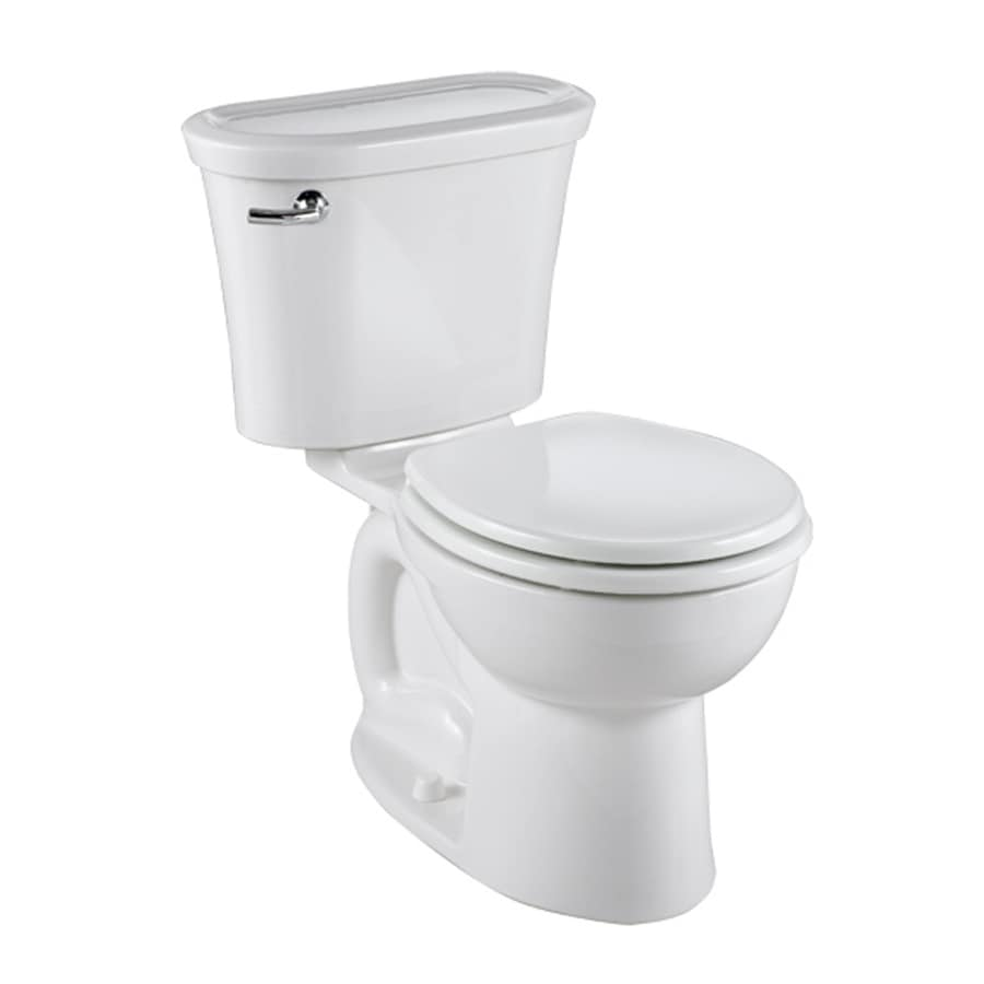 American Standard Tropic White 1.28-GPF/4.85-LPF 12-in Rough-in Watersense Round 2-Piece Standard Height Toilet