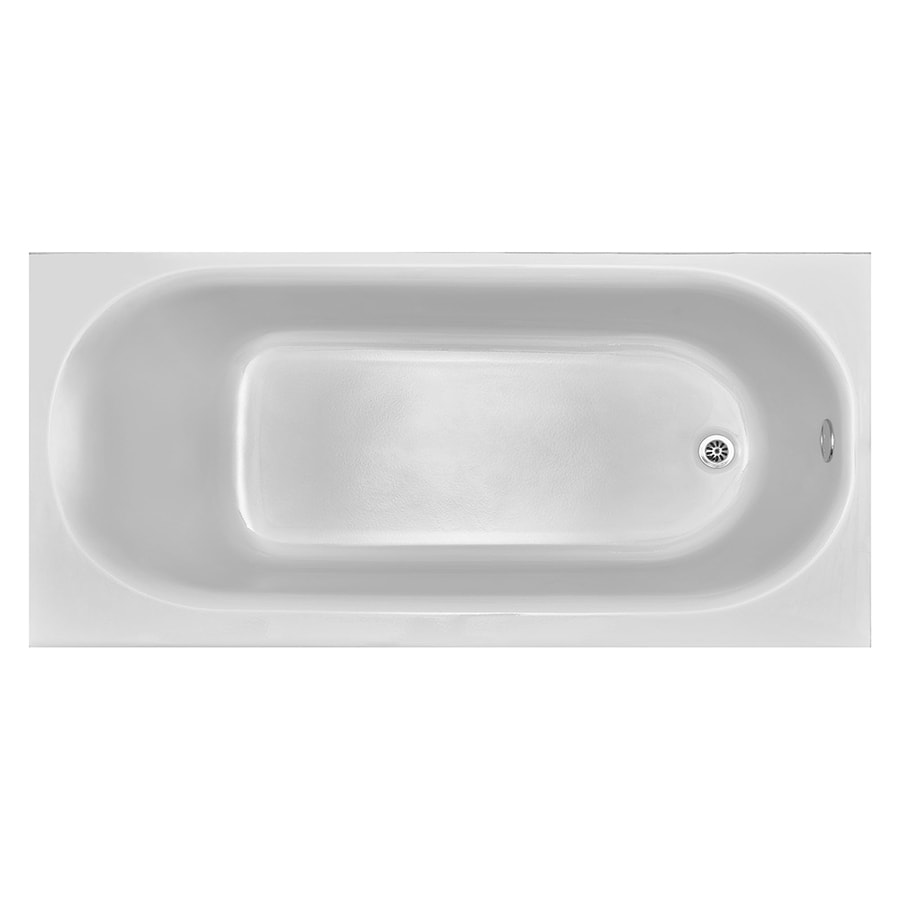 American Standard Princeton 60 In White Reinforced Porcelain Enamel Metal Rectangular Right Hand