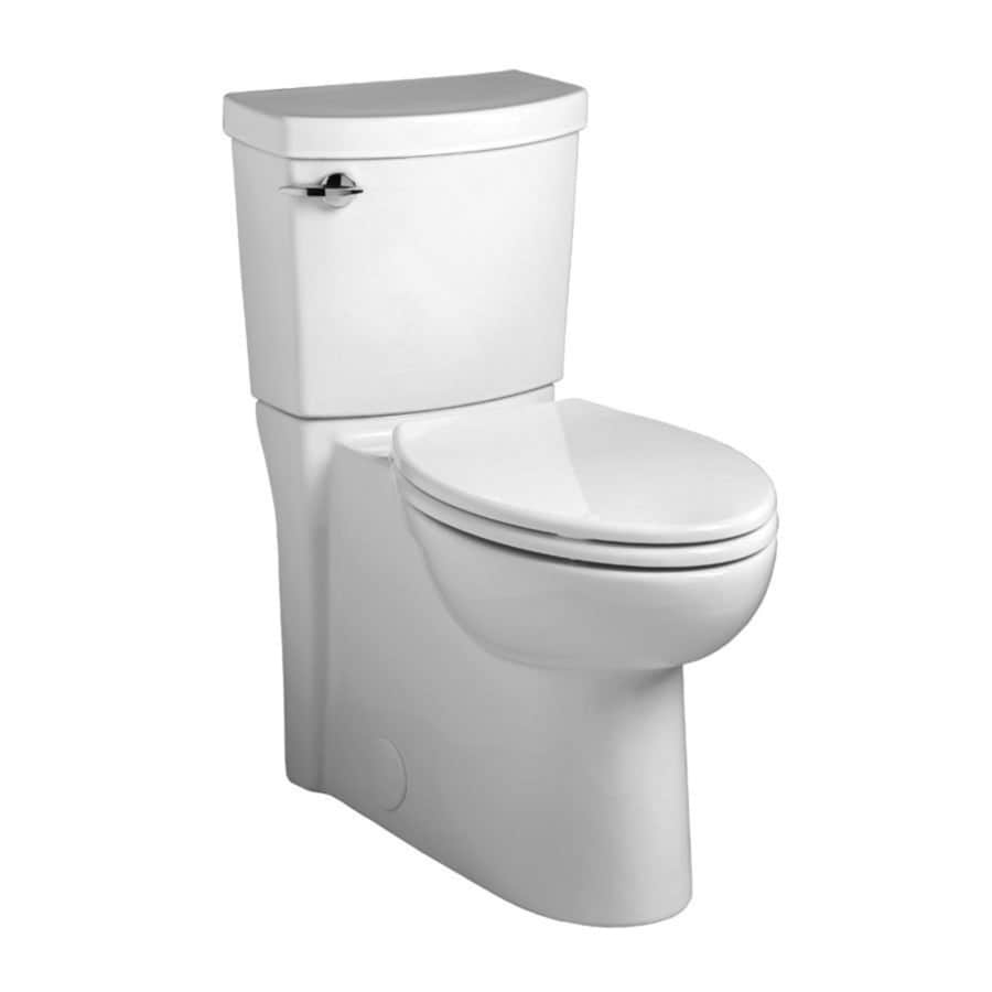 American Standard Clean 1.28-GPF (4.85-LPF) White Elongated Chair Height 2-piece Toilet